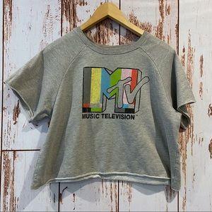 | MTV | vintage cropped short sleeve sweatshirt